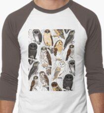 OWLS - Nocturnal birds of Australia Men's Baseball ¾ T-Shirt