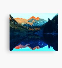 The Wonderful Maroon Bells - Landscapes of USA Canvas Print