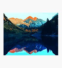 The Wonderful Maroon Bells - Landscapes of USA Photographic Print