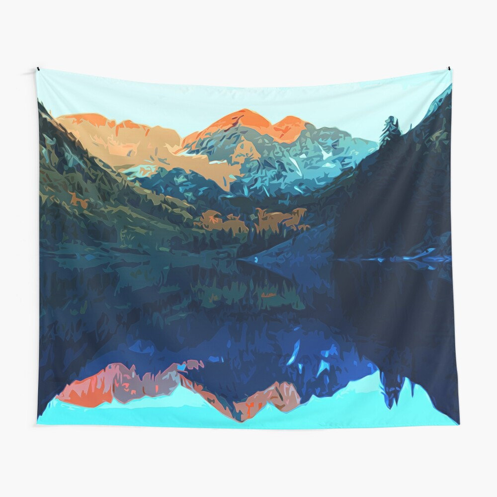 The Wonderful Maroon Bells - Landscapes of USA Wall Tapestry