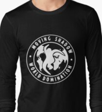 [WHITE] Moving Shadow World Domination  Long Sleeve T-Shirt