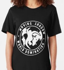 [WHITE] Moving Shadow World Domination  Slim Fit T-Shirt