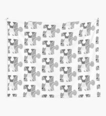 Grey puzzle piece Wall Tapestry