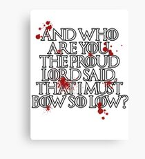 And who are you? (White) Canvas Print