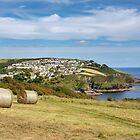 Polruan on the Polperro heritage coast , south Cornwall. by eddiej