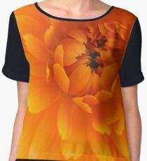 Orange Mum Women's Chiffon Top