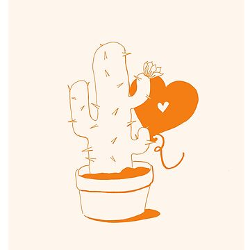 Cactus and Balloon by aevy