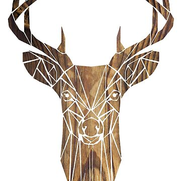 Wooden Deer by laura-downing