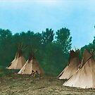 Assiniboine Tipi Camp - American Indian Tipis by DanKeller