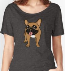 Black Mask Fawn French Bulldog is ready to play  Women's Relaxed Fit T-Shirt