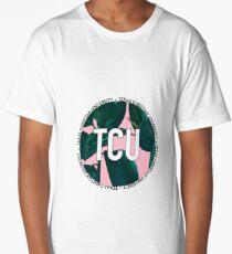 Texas Christian University TCU Pink Palm Leaves Long T-Shirt