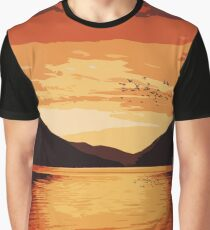 Lake Crescent - Landscapes of America Graphic T-Shirt