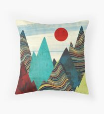 Color Peaks Throw Pillow