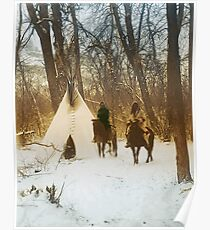 The winter camp - Crow (Apsaroke) Indians Poster