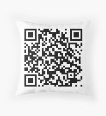 QrCode Rick Astley - Never Gonna Give You Up Throw Pillow