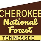 CHEROKEE NATIONAL FOREST SIGN TENNESSEE HIKING OUTDOOR NATURE CAMPING by MyHandmadeSigns