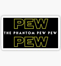 The Phantom Pew Pew Sticker