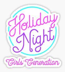 GIRLS GENERATION HOLIDAY NIGHT GLOW Sticker