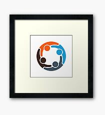 Four Color People Group Framed Print