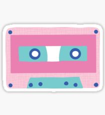 Pink Memphis Retro Cassette Tape  Sticker
