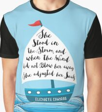 She Adjusted her Sails Graphic T-Shirt