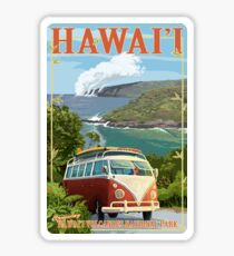 Hawaiʻi Volcanoes National Park Vintage Travel Decal, Hawaii, USA Sticker
