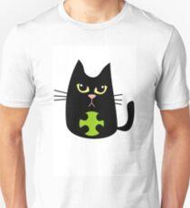 Black cat playing T-Shirt