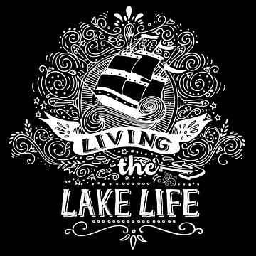 Living The Lake Life Shirt, Boat Shirt, Sailing Shirt by acadelle
