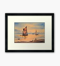 River Thames At Greenwich London Framed Print