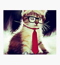 Cute Executive Cat Photographic Print