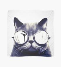 Vintage Cat Wearing Glasses Scarf