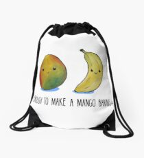 Food Pun - It's enough to make a mango bananas Drawstring Bag