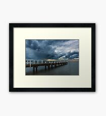 Stormy Weather at Frankston Framed Print