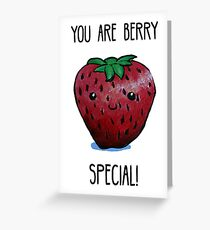 Food Pun - You are Berry Special Greeting Card