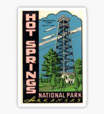 Hot Springs National Park Arkansas Vintage Travel Decal - Observation Tower Sticker