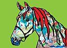 Paint Horse In Green by Juhan Rodrik