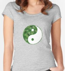 Ying and Yang dope Women's Fitted Scoop T-Shirt