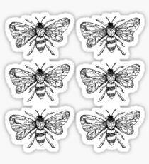Honey Bee Sticker Pack of 6 Sticker