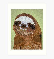 Smiling Sloth Art Print