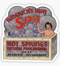 Hot Springs National Park Arkansas Vintage Retro Travel Decal Sticker