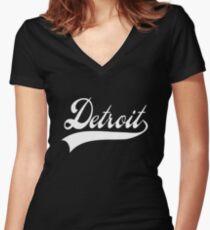 Detroit Women's Fitted V-Neck T-Shirt