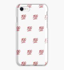 Keep it 100! iPhone Case/Skin