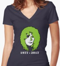 Marc Bolan anniversary Women's Fitted V-Neck T-Shirt