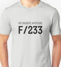 A pinhole photographers favorite f-stop T-Shirt