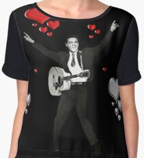 I love Elvis Presley   Women's Chiffon Top