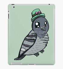 Cute Pigeon With Green Hat iPad Case/Skin