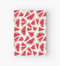 Watercolor watermelon slices  Hardcover Journal