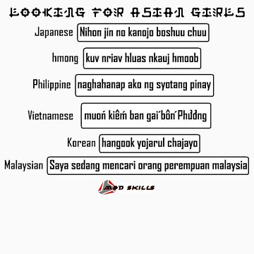 looking for asian girls by jokerrabit