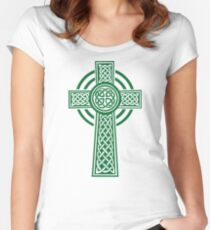 Celtic cross Women's Fitted Scoop T-Shirt