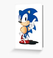 Sonic The Hedgehog Classic Greeting Card